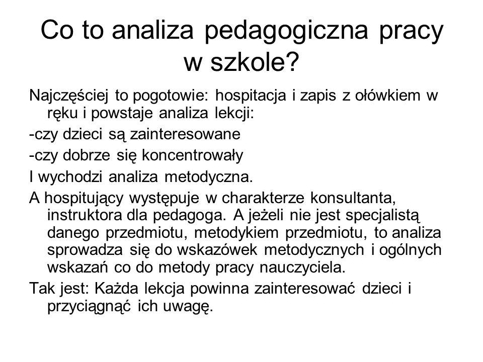 Co to analiza pedagogiczna pracy w szkole