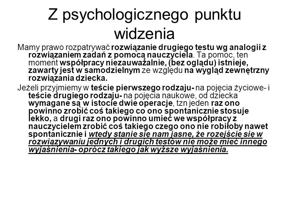 Z psychologicznego punktu widzenia