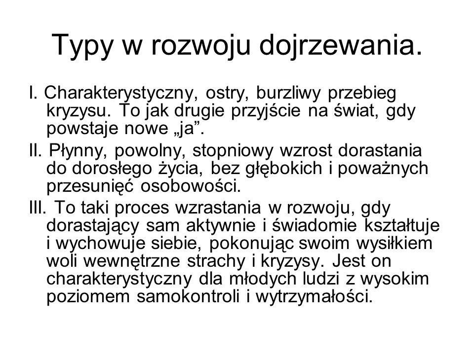 Typy w rozwoju dojrzewania.