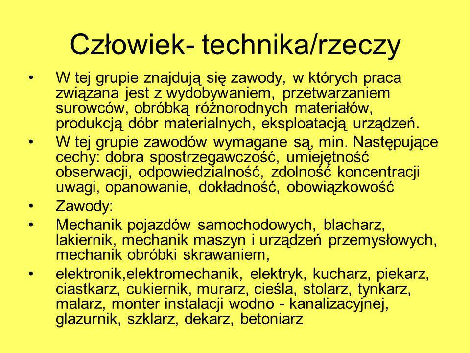 Człowiek- technika/rzeczy