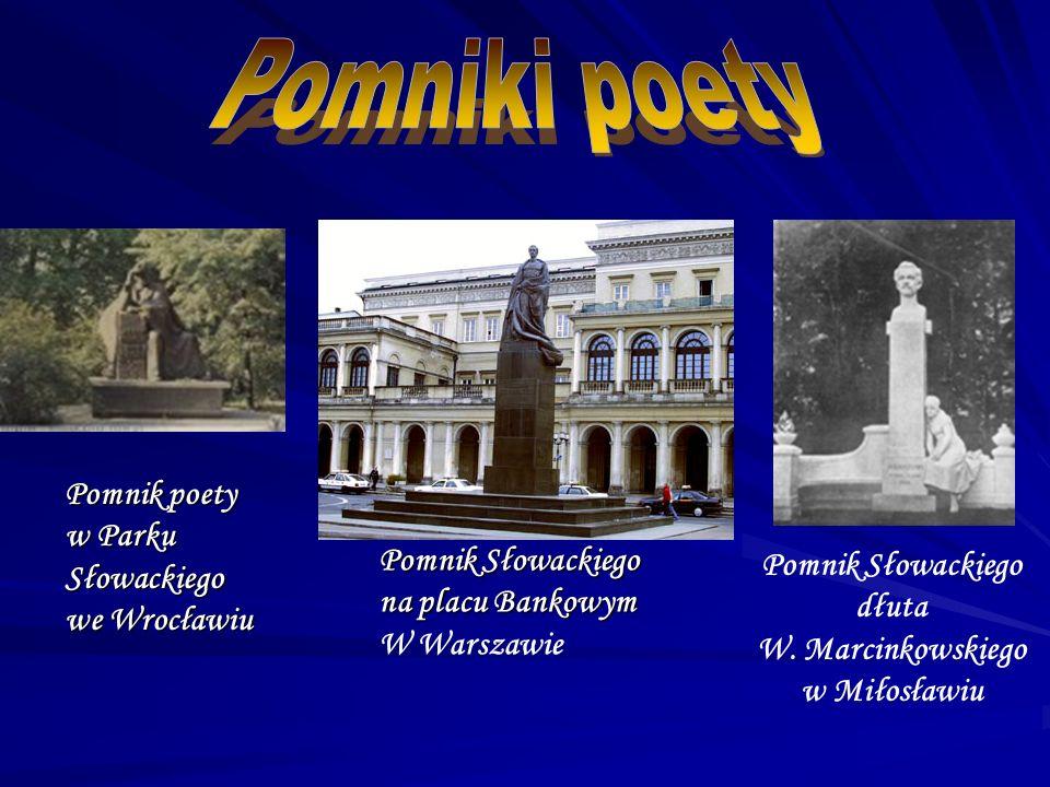 Pomnik Słowackiego dłuta W. Marcinkowskiego w Miłosławiu