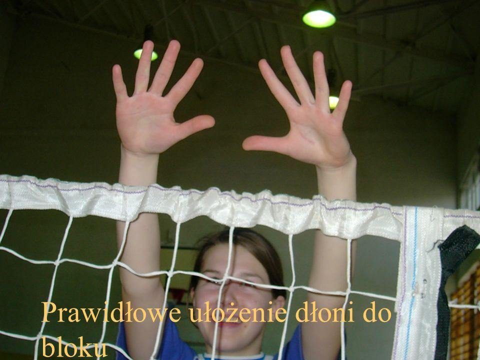 Prawidłowe ułożenie dłoni do bloku