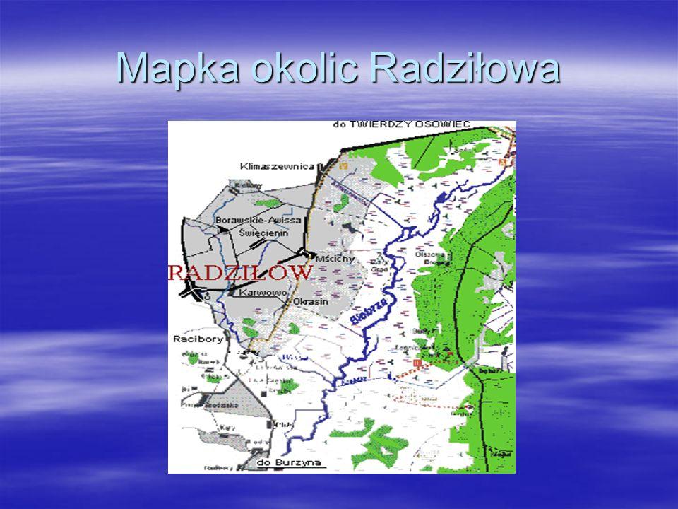 Mapka okolic Radziłowa