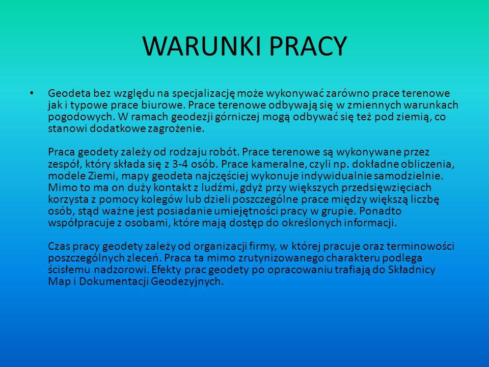 WARUNKI PRACY