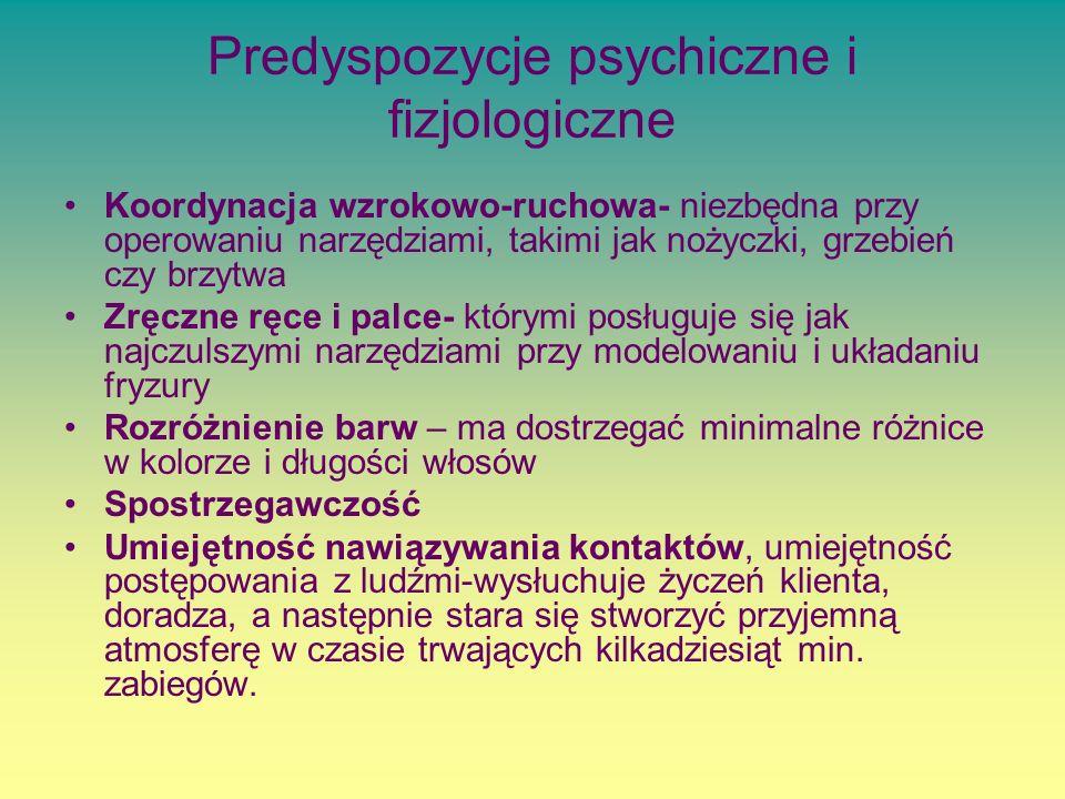 Predyspozycje psychiczne i fizjologiczne