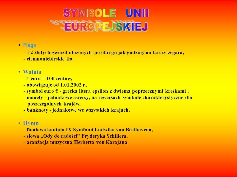 SYMBOLE UNII EUROPEJSKIEJ Flaga