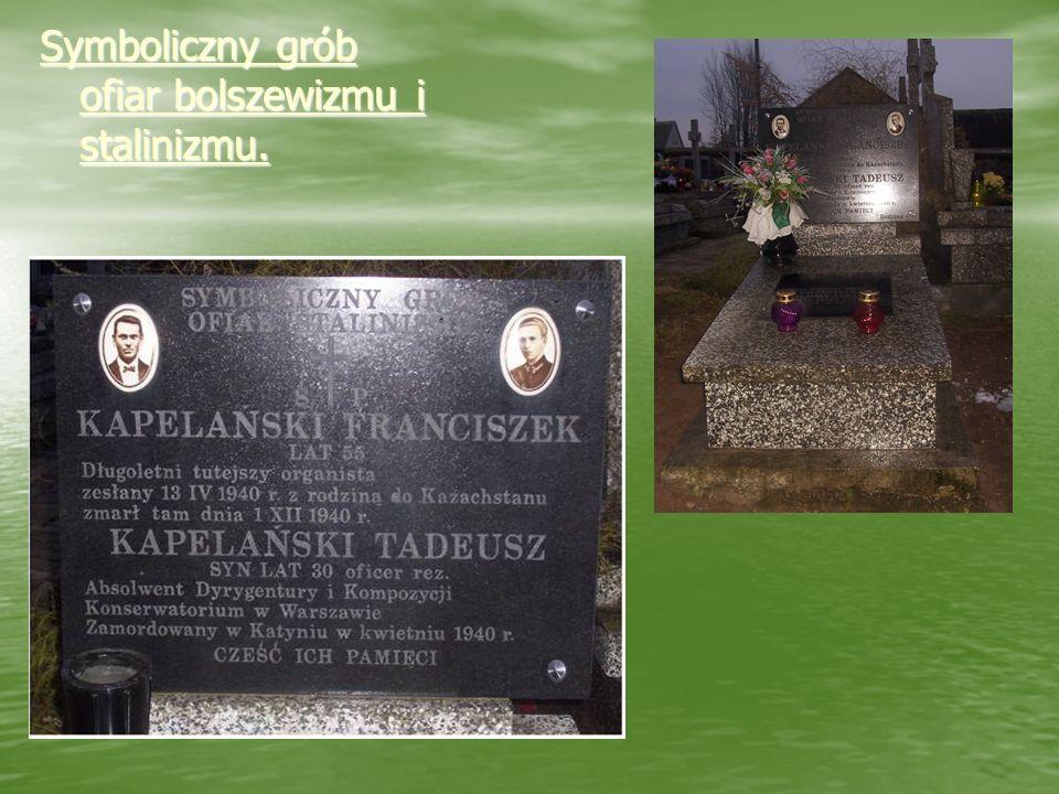 Symboliczny grób ofiar bolszewizmu i stalinizmu.