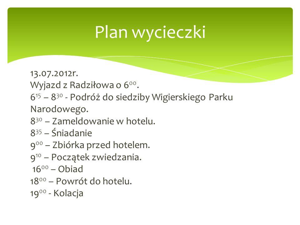 Plan wycieczki