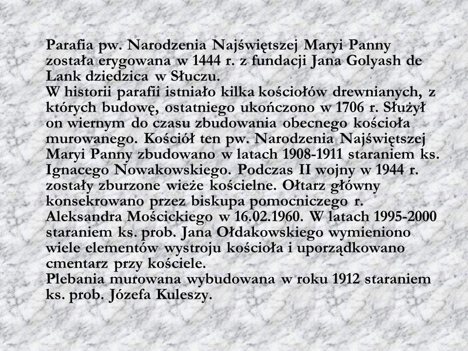 Parafia pw. Narodzenia Najświętszej Maryi Panny została erygowana w 1444 r.