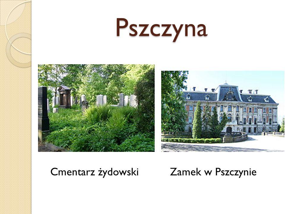 Pszczyna Cmentarz żydowski Zamek w Pszczynie