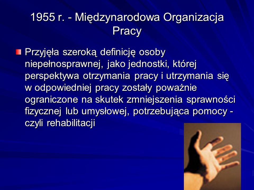 1955 r. - Międzynarodowa Organizacja Pracy