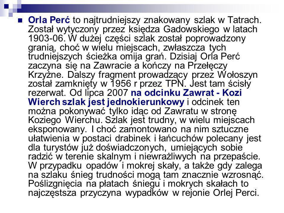 Orla Perć to najtrudniejszy znakowany szlak w Tatrach
