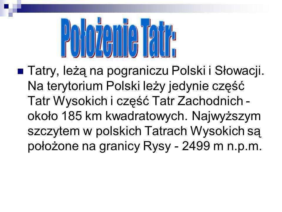 Położenie Tatr:
