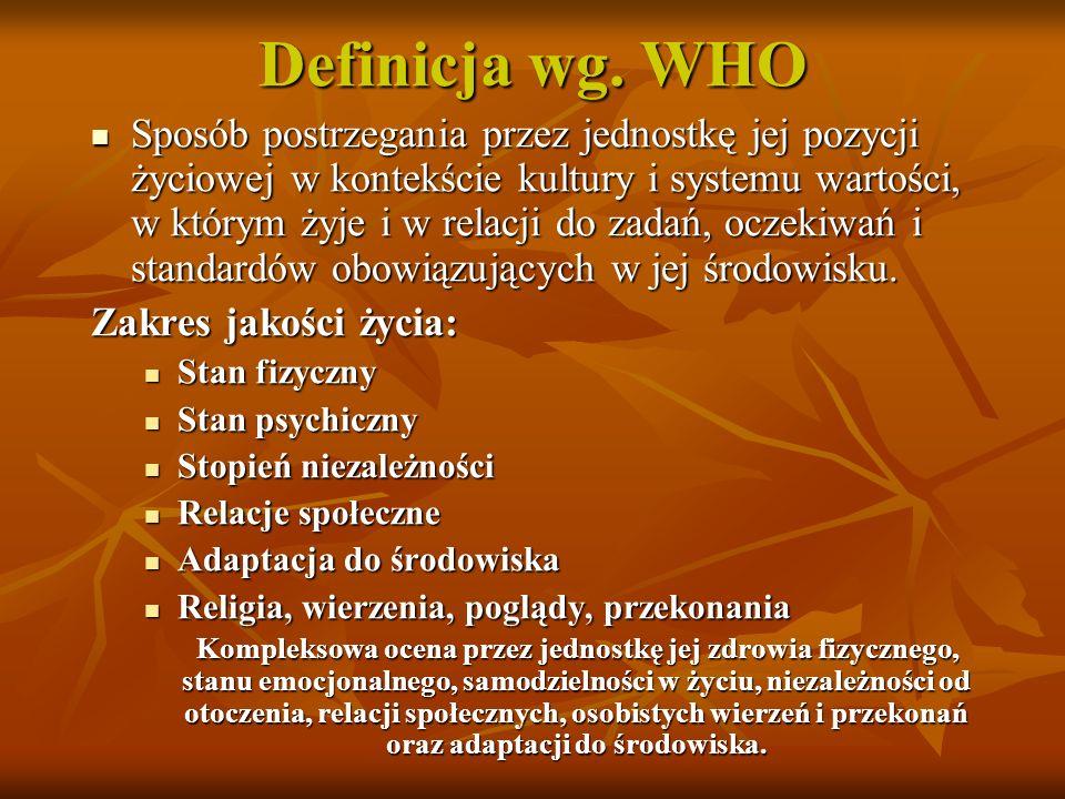 Definicja wg. WHO
