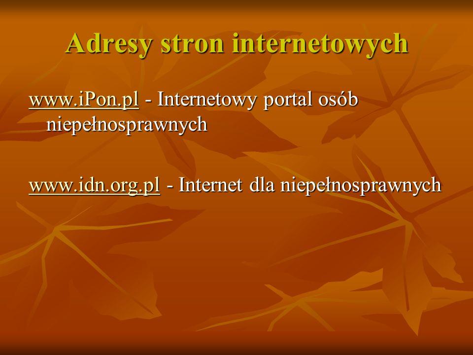 Adresy stron internetowych