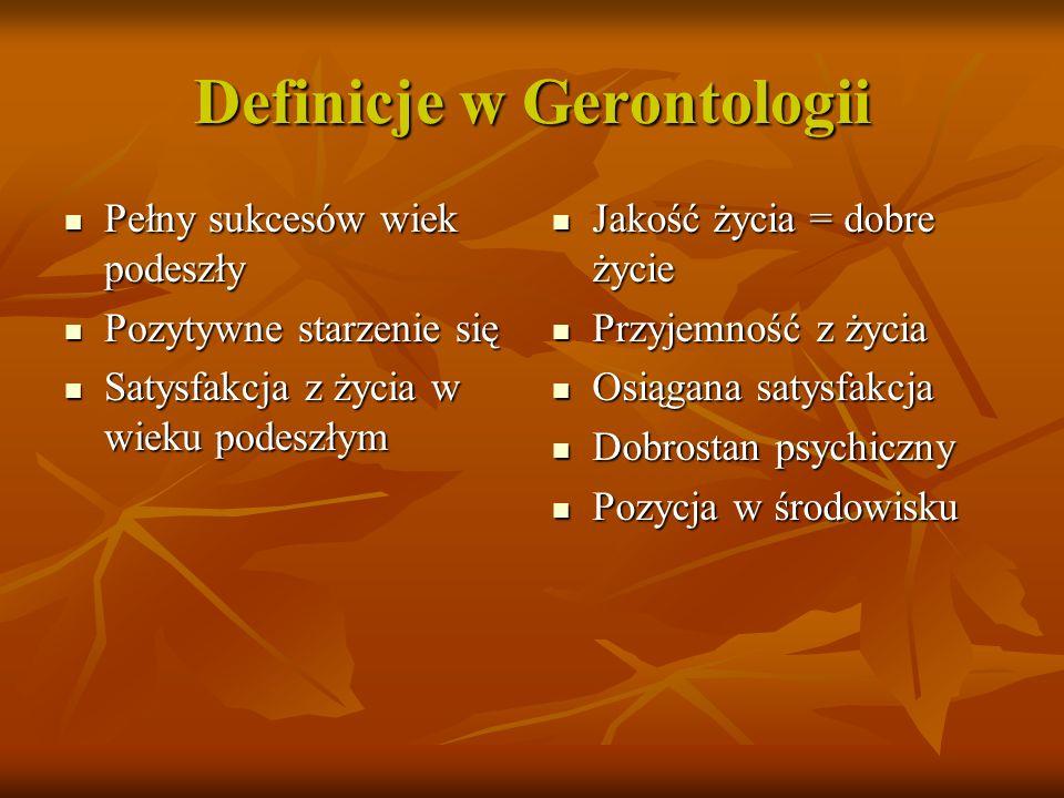 Definicje w Gerontologii