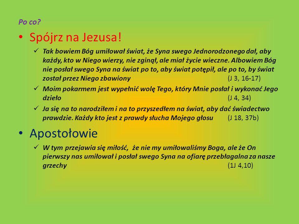 Spójrz na Jezusa! Apostołowie Po co