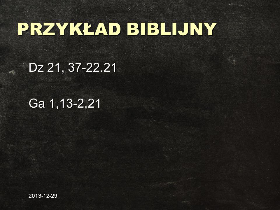 PRZYKŁAD BIBLIJNY Dz 21, 37-22.21 Ga 1,13-2,21 2017-03-26