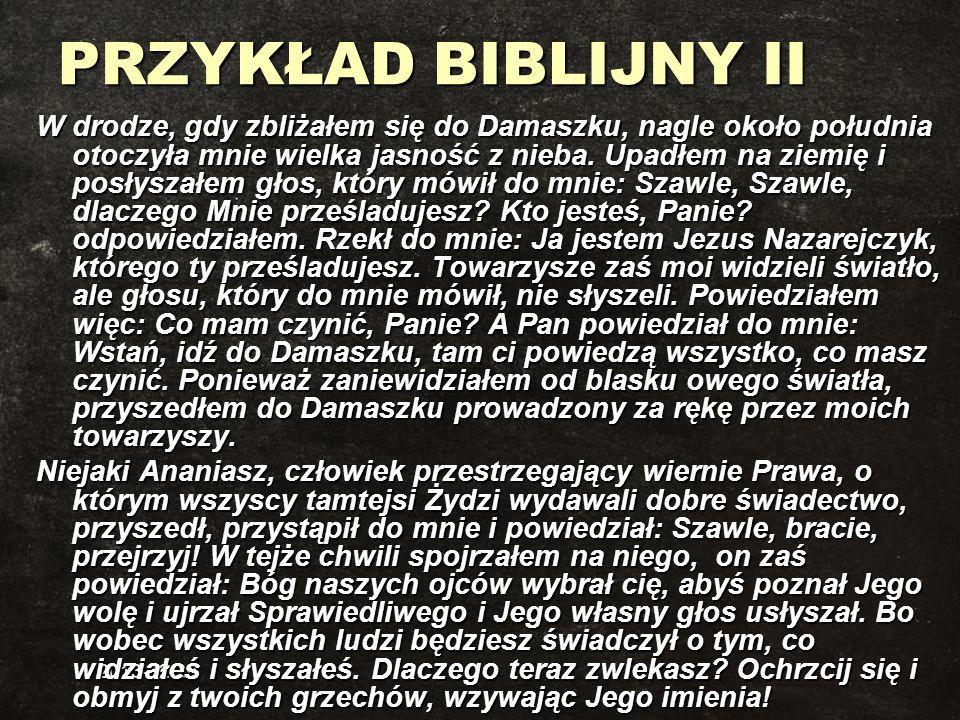 PRZYKŁAD BIBLIJNY II