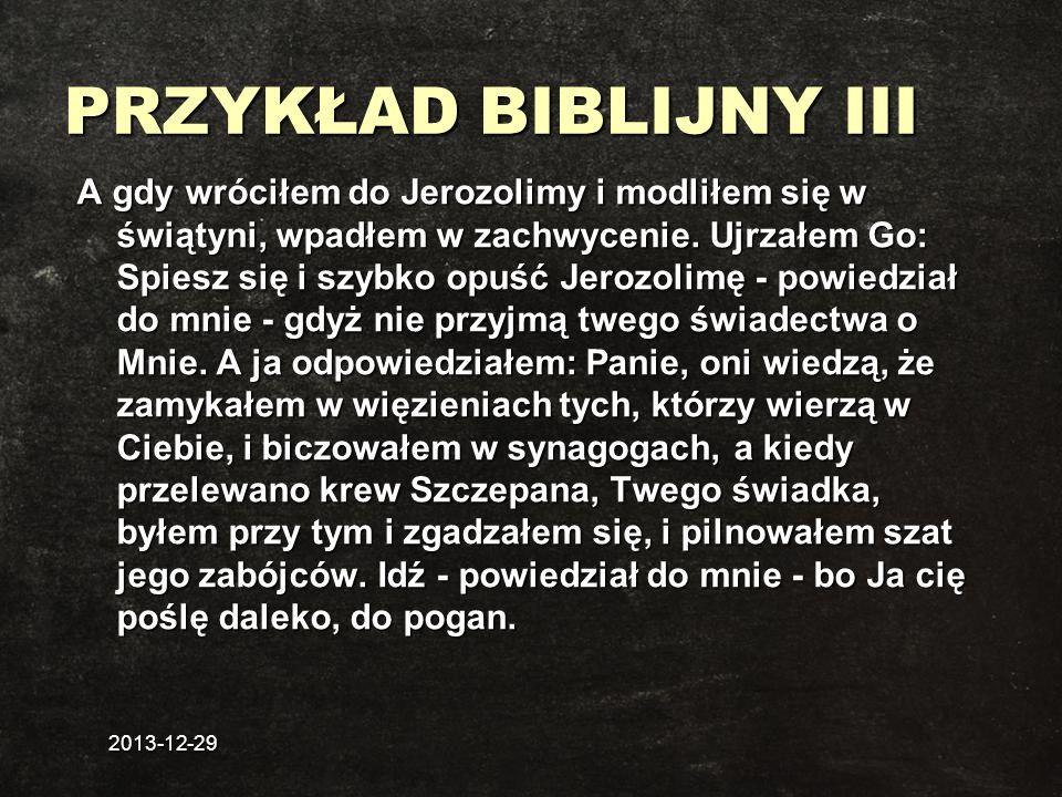 PRZYKŁAD BIBLIJNY III