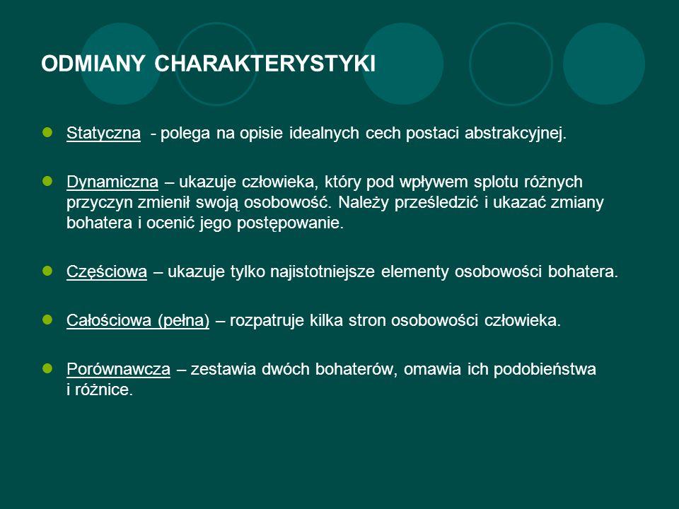 ODMIANY CHARAKTERYSTYKI