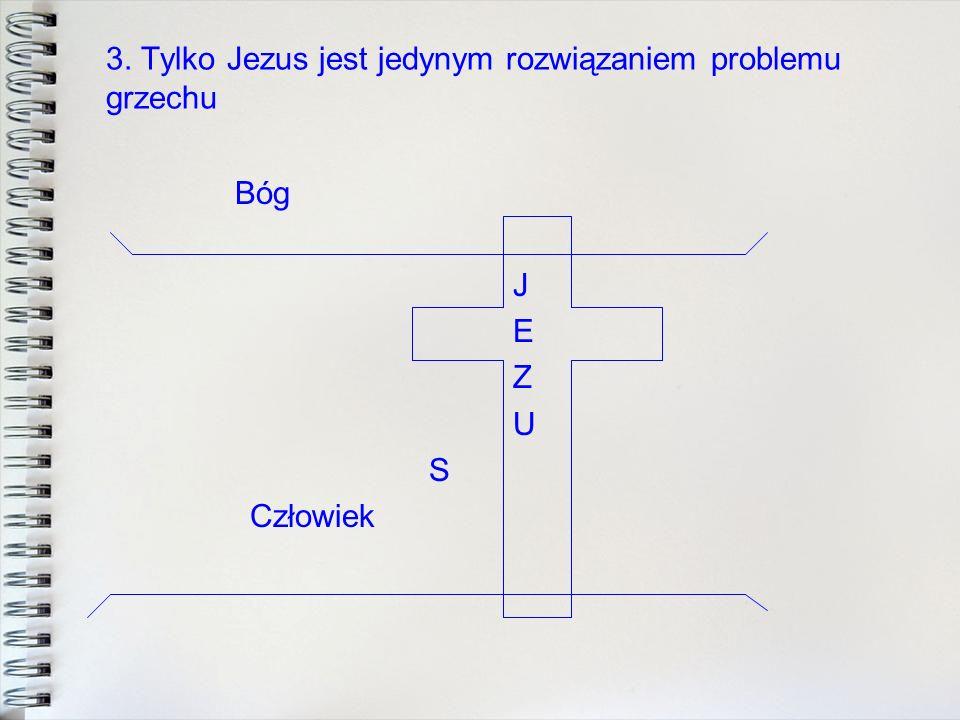 3. Tylko Jezus jest jedynym rozwiązaniem problemu grzechu