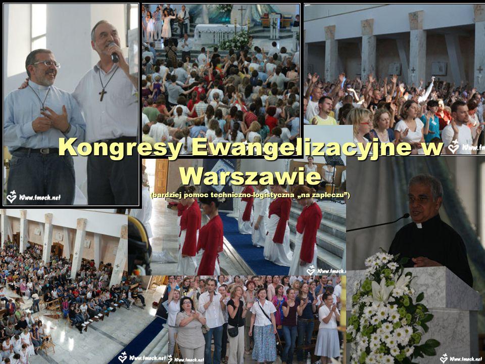 """Kongresy Ewangelizacyjne w Warszawie (bardziej pomoc techniczno-logistyczna """"na zapleczu )"""