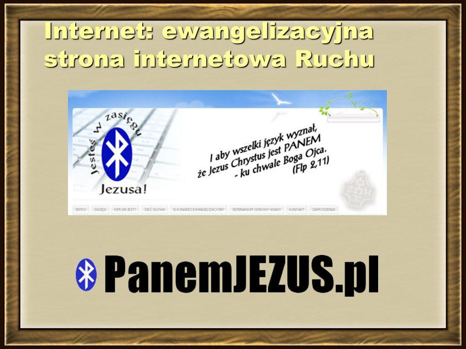 Internet: ewangelizacyjna strona internetowa Ruchu