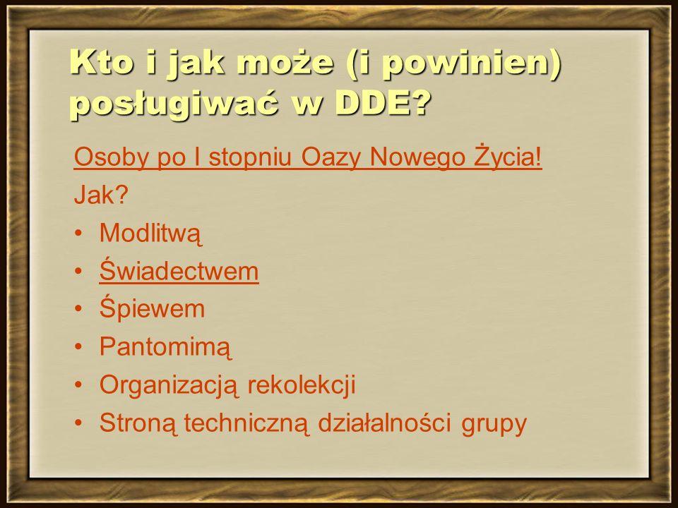 Kto i jak może (i powinien) posługiwać w DDE