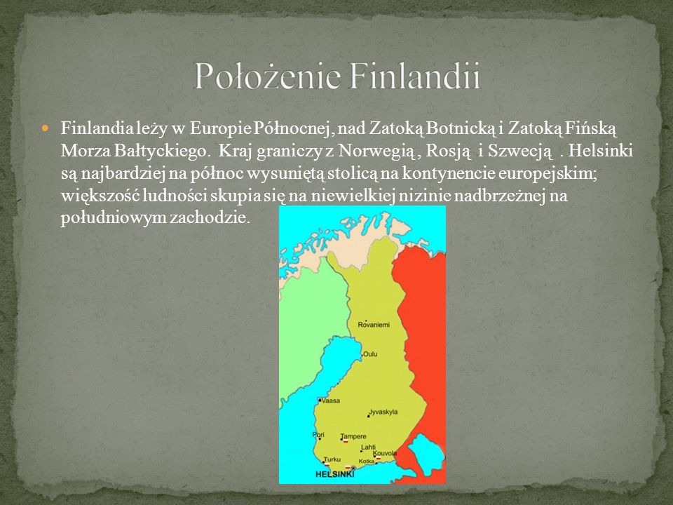 Położenie Finlandii