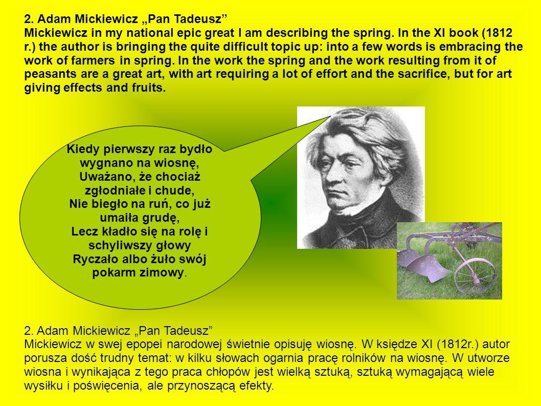 """2. Adam Mickiewicz """"Pan Tadeusz"""