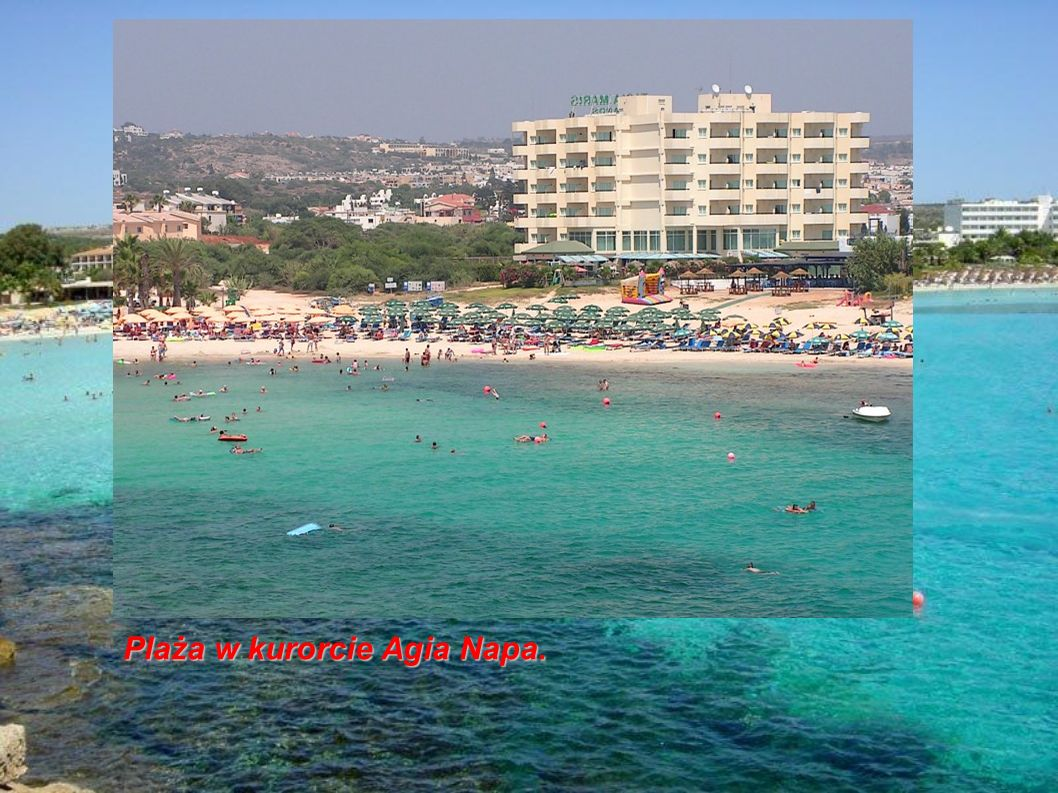 Plaża w kurorcie Agia Napa.