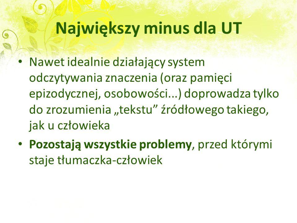 Największy minus dla UT