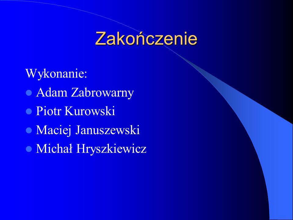 Zakończenie Wykonanie: Adam Zabrowarny Piotr Kurowski