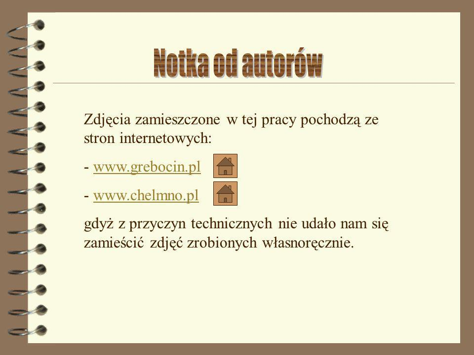 Notka od autorów Zdjęcia zamieszczone w tej pracy pochodzą ze stron internetowych: - www.grebocin.pl.