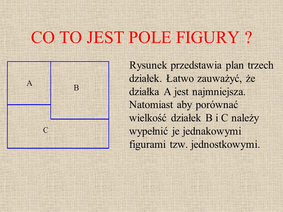 CO TO JEST POLE FIGURY A B C