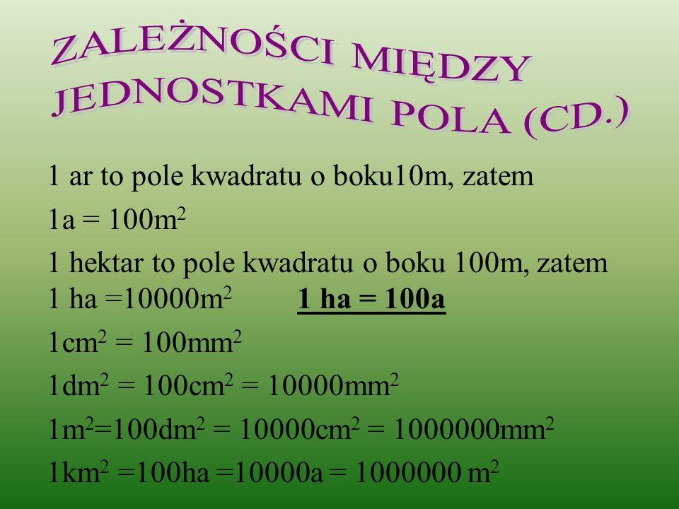 ZALEŻNOŚCI MIĘDZY JEDNOSTKAMI POLA (CD.)