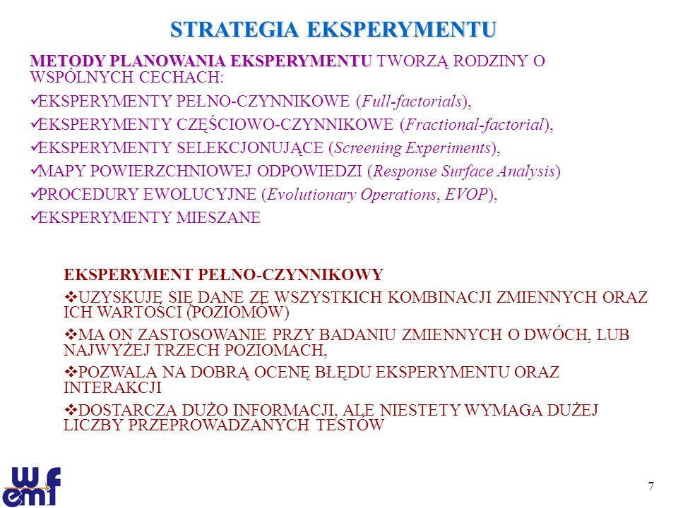 STRATEGIA EKSPERYMENTU