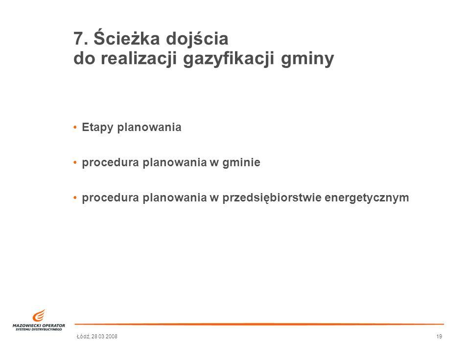 7. Ścieżka dojścia do realizacji gazyfikacji gminy
