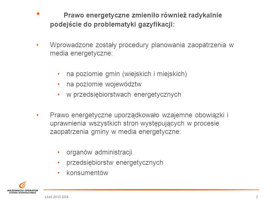 Prawo energetyczne zmieniło również radykalnie podejście do problematyki gazyfikacji: