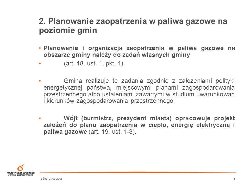2. Planowanie zaopatrzenia w paliwa gazowe na poziomie gmin