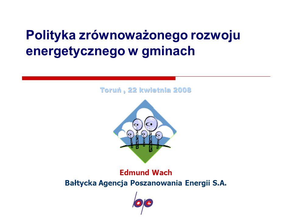 Polityka zrównoważonego rozwoju energetycznego w gminach