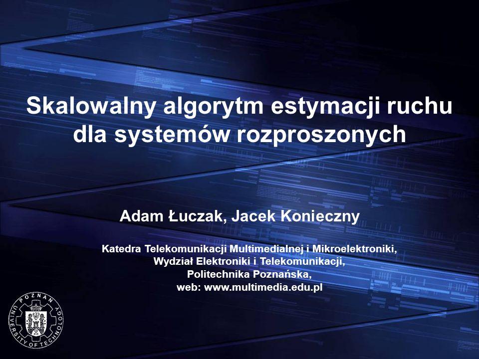 Skalowalny algorytm estymacji ruchu dla systemów rozproszonych