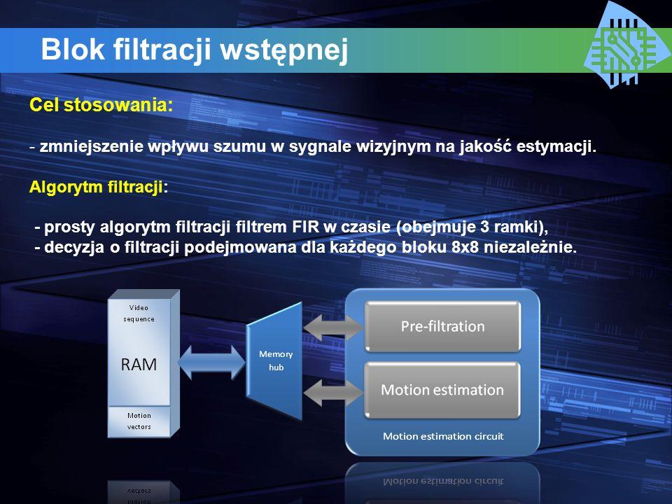 Blok filtracji wstępnej