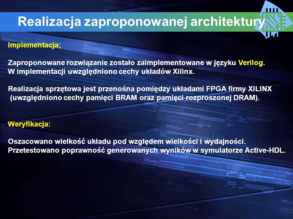 Realizacja zaproponowanej architektury