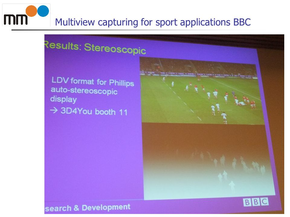 Multiview capturing for sport applications BBC