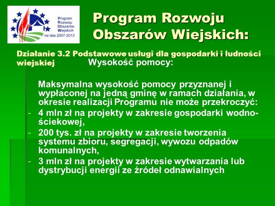 Program Rozwoju Obszarów Wiejskich: