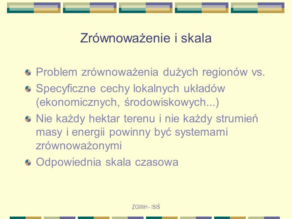 Zrównoważenie i skala Problem zrównoważenia dużych regionów vs.