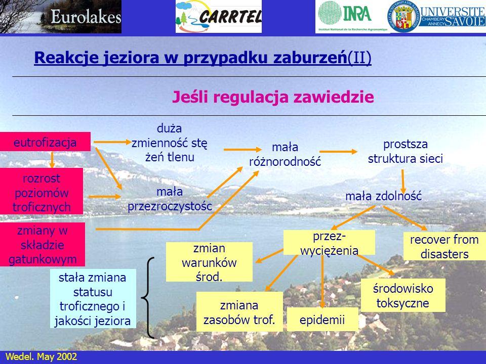 Reakcje jeziora w przypadku zaburzeń(II)