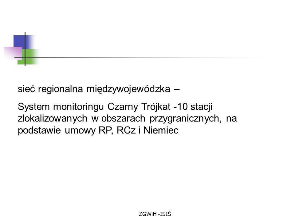 sieć regionalna międzywojewódzka –